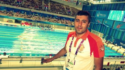 Azerbaijan's swimmers at the European Games PHOTO