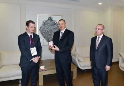 President Ilham Aliyev presented with Paralympic Honour award