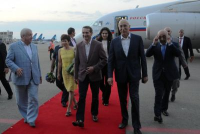 Chairman of Russian State Duma arrives in Azerbaijan