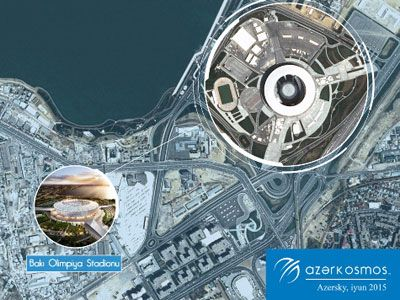 Latest satellite images of Baku Olympic Stadium