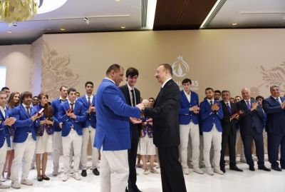 Azerbaijan 's President attended the award ceremony  PHOTO
