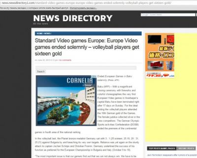 France Press posts article on first European Games closing ceremony