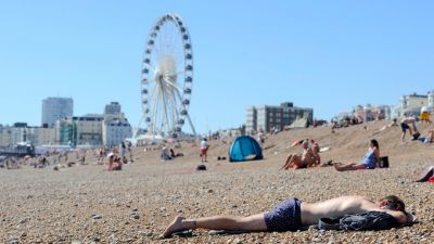 The hottest day of the decade in Britain
