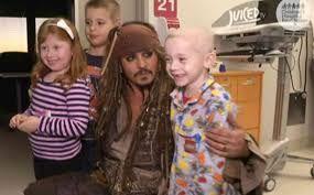 Johnny Depp surprises sick kids