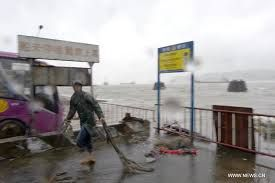 Typhoon Linfa makes landfall in China