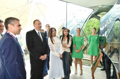 "President Ilham Aliyev attended a ""National day"" ceremony in the ""Expo Milano 2015"""