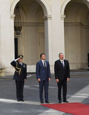 Italy hosts officially welcome ceremony for  Azerbaijani President