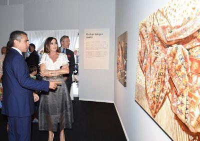 Мехрибан Алиева приняла участие в церемонии открытия выставки в Каннах