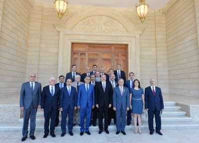 President Ilham Aliyev  presents orders and medals to media representatives  PHOTO