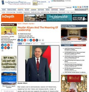 The US newspaper publishes an article on Azerbaijani National Leader