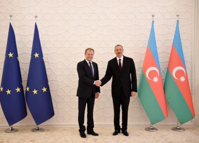 Official welcoming ceremony for Donald Tusk held
