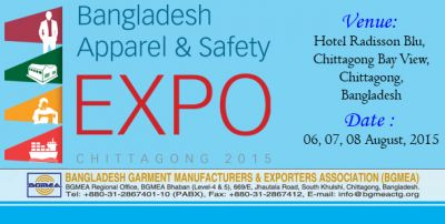 Bangladesh Apparel & Safety Exposition 2015 to be held
