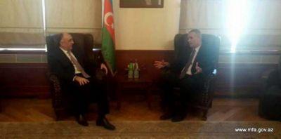 Elmar Mammadyarov receives Israeli Ambassador