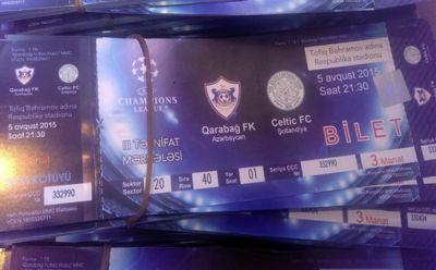 """""""Qarabağ""""–""""Seltik"""" oyununun biletləri satışa çıxarılacaq"""