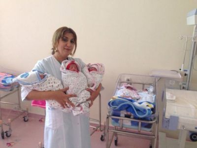 Triplets born at the Training and Surgical Clinic of AMU PHOTO