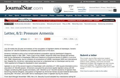 Azerbaijani community urges US government to pressure Armenia
