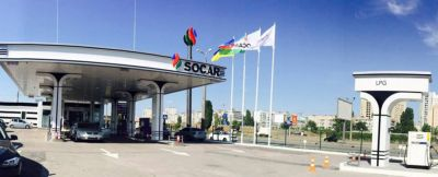 SOCAR updated gas stations logo in Ukraine.
