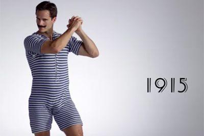 Эволюцию мужского купального костюма