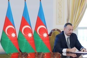 President Ilham Aliyev signs an order