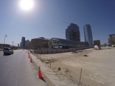 Реконструируется одна из улиц Баку ФОТО