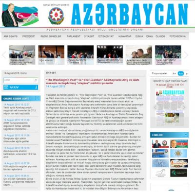 "The Washington Post and The Guardian violate ""armistice"" between Azerbaijan and the USA and West"