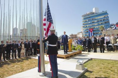 US flag raised at Havana embassy