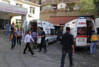 Fatal roadside bomb in Hakkari, Turkey