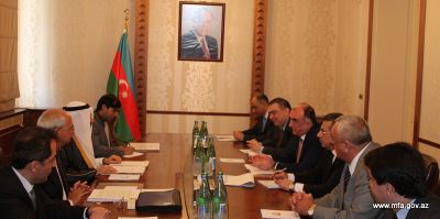 Elmar Mammadyarov receives the Secretary General of the OIC