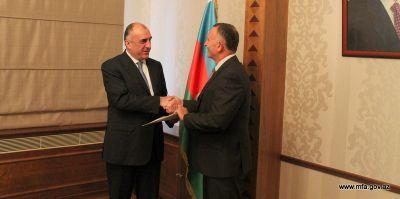 Azerbaijani FM meets newly appointed Ambassador Israeli Ambassador