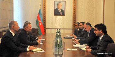 Minister Elmar Mammadyarov receives newly appointed Belarus Ambassador