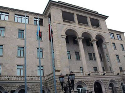 Azerbaijani Defense Ministry issues a statement