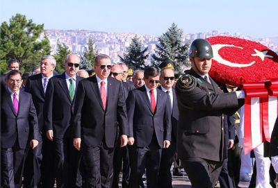 Ankarada Zəfər bayramı münasibətilə rəsmi mərasim