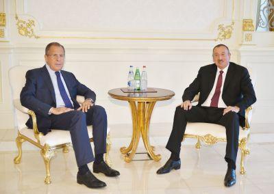 Президент принял министра иностранных дел России
