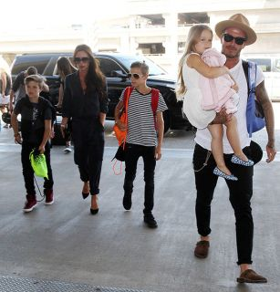 Beckhams return home to London