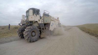 Продолжается строительство автодороги - ФОТО - ВИДЕО