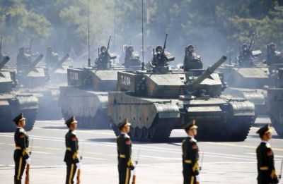 China  holds  a sumptuous parade