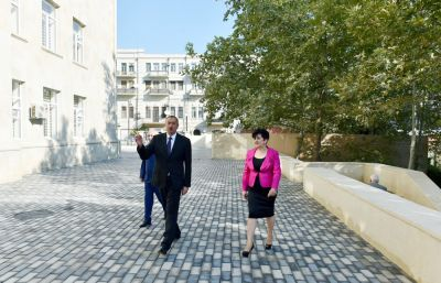 President Ilham Aliyev reviewed secondary school No. 189-190 in Sabail District of Baku