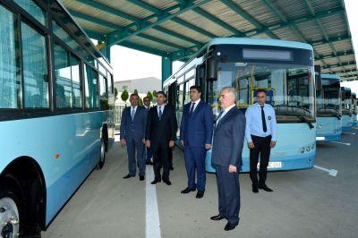 Naxçıvan Şəhər Nəqliyyat İdarəsinə yeni avtobuslar verilib