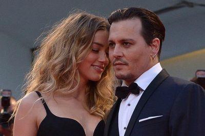 Johnny Depp and Amber Heard  at Venice Film Festival