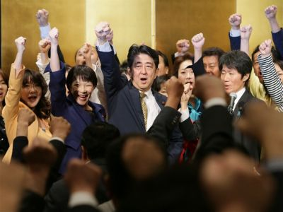 Japanese PM re-elected party leader
