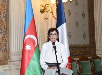 Azerbaijan's First Lady attends a conference in Paris  PHOTOS