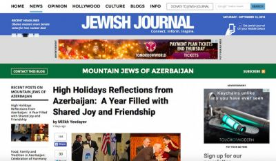 High Holidays Reflections from Azerbaijan: A Year Filled with Shared Joy and Friendship :Jewish Journal