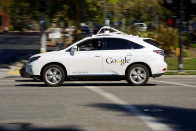 Google self-driving car project names CEO