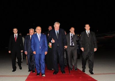 President of the Czech Republic arrives in Baku