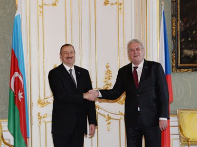 Official welcoming ceremony held Czech President
