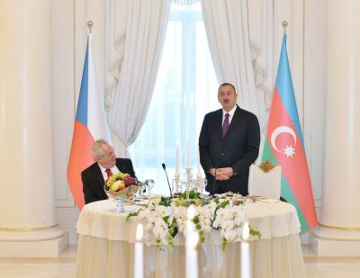 President Ilham Aliyev hosted an official reception in honor of President of the Czech Republic