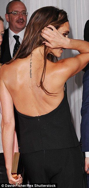 Victoria Beckham has tattoo dedicated to David removed