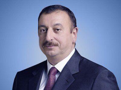 President Ilham Aliyev attends an opening of kindergarten in Kurdamir