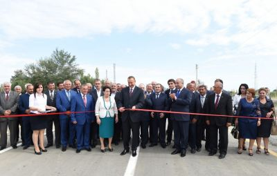 Azerbaijani President attended the opening of Mollakand-Akhtachi-Oylagulu highway PHOTO