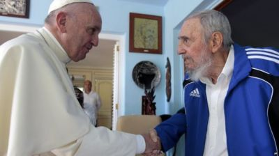 Pope Francis meets with  Fidel Castro